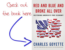 Red and Blue and Broke All Over - New Charles Goyette Book