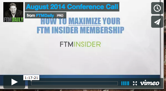 August 2014 Conference Call